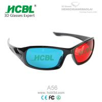 Cheap Red and Blue 3D Eyewear Anaglyph 3D Glasses with 1.5 mm Acrylic Filter Lens for sale