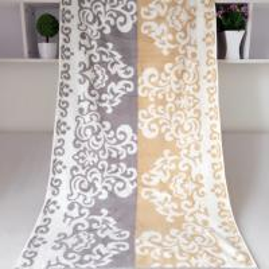 Rectangular Royal Velvet Cotton Bath Towels Reversible Solid Dyed Dobby