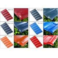 Cheap Color Coated Corrugated Pvc Synthetic Resin Roof Tile Spanish Style 1050mm Width for sale