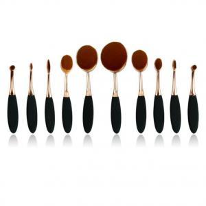 oval shaped brush Professional makeup brush set