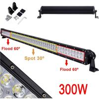 Led forklift light for sale xinruilai buy cheap waterproof ip67 single row curved 52 inch 300 watts led vehicle light bars aloadofball Images