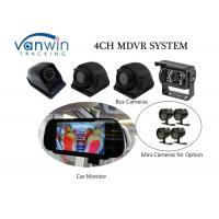 Cheap Compact 4 Channel 3G Mobile DVR With Built - In GPS Mirror Recording In SD Card for sale