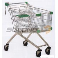 Cheap Unfolding Colored Supermarket Shopping Trolley Baskets Steel Material for sale