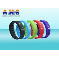 Cheap USB Port HF Rfid Tags , Sport Rfid Silicone Wristbands with FM1108 chip for sale