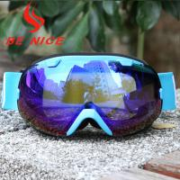 Cheap Mirror Coating Anti Fog OTG Ski Goggles With Two Way Venting For Clear Vision for sale