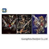 Flipped Customized 3D Framed Picture Of Animation Cool Skeleton For Indoor Decoration