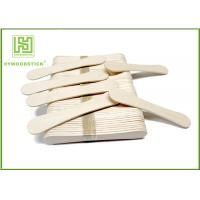 Cheap 94Mm Ice Cream Wooden Sticks , Ice Cream Distributor Hot Stamping Logo for sale
