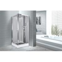 Cheap Square 900 X 900 Bathroom Shower Cabins White ABS Tray Chrome Profiles for sale