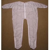 Buy cheap 4Mil 5Mil 6Mil Thickness Clear or White Mortuary Garments Vinyl Unionalls Heat Sealed from wholesalers