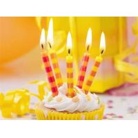 Colorful Streak Printable Birthday Candles Long Burning Time No Dripping