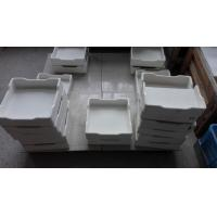 Cheap Rectangular Alumina Ceramic Crucible , Customized Metal Melting Crucible for sale