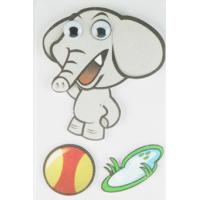 Soft Kids 3D Cartoon Stickers Promotional Baby Elephant Wall Stickers