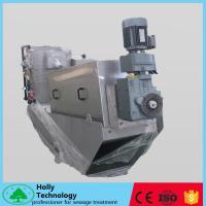 Self Cleaning Screw Sludge Dewatering Machine In ETP Plant Wastewater Sludge Processing
