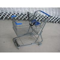 Cheap Unfolding Style Supermarket Shopping Trolley , Wire Metal Shopping Cart for sale