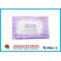 Cheap Personal Hygiene Wet Tissue Non Irritating Feminine Wipes Healthy Unscented for sale