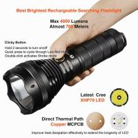 Cheap Rechargeable / Dischargeable Search And Rescue Flashlight Good Heat Dissipation for sale