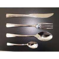 Cheap Plastic silver cutlery for sale