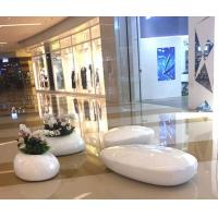 Buy cheap 2018  New Arrival Fiber glasses made shopping mall  chairs and flowerpot set from wholesalers