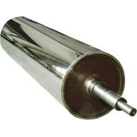Wear Resistance Chrome Long Mirror Roller For Leatheriod , Paper , Glass , Textiles