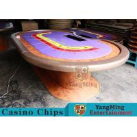 Durable Casino Poker Table , Wood Poker TableWith Customized Grain Style