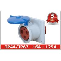Buy cheap CEE Flanged Socket Industrial Electrical Sockets And Plugs , Flush Mounted from wholesalers