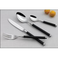 Cheap Stainless steel cutlery set with plastic handle for sale