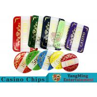 Cheap Casino Style Numbered Poker Chip Set Bright Color With Customized Print Logo for sale