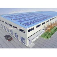 Cheap A572 Prefabricated Steel Warehouse , Modern Prefab Commercial Buildings for sale