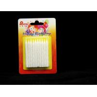 Cheap Shining White Spiral Glitter Birthday Candles ,  Happy Anniversary Cake Candles for sale