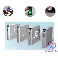 Cheap Stainless Steel Customizable Special Logo Bidirectional Swing Barrier Gate / Automatic Turnstile for sale