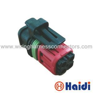 PA66 balck Tyco AMP TE 4 Pin Automotive Wire Harness ... on