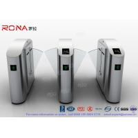 Flap Barrier Gate Flap Wing Automatic Systems Turnstiles Polishing With Anti - Reversing Passing