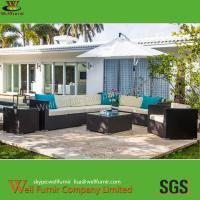 Cheap Supply Rattan Garden Furniture, Sofa with Parasol, Wicker Conversation Sofa,  Manufacturer for sale