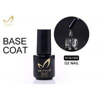 Cheap 5 / 10 / 15ml UV LED Soak Off Base Coat For Gel Nails Non Toxic Low Smell for sale