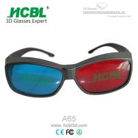 Cheap Reuseable 3D Anaglyph Glasses Red Blue For Computer Game / Stereo Movie for sale