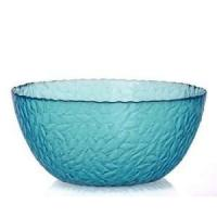 Cheap promotional colored glass salad bowl ,shallow large glass salad bowl for sale