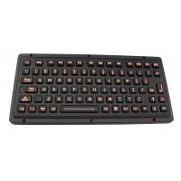 Cheap Black titanium vandal proof ruggedized keyboard with industrial backlight for sale