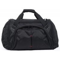 Customized Portable Black  Duffel Bags Luggage Fashionable 600D Polyester Material