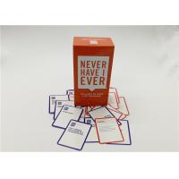 550 Cards Never Have I Ever Party Game , Custom Design Playing Cards