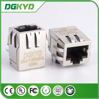 90 Degree shielded 1000base RJ45 Jack Single Port with EMI Fingers Filter Tab Down