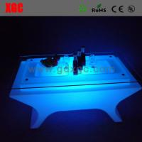 Buy cheap Lighting KTV tea table furniture GF322 light furniture plastic Led furniture bar table set round coffee table from wholesalers