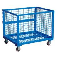 Blue wire mesh container foldable