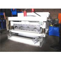 760 Glazed Tile Roll Forming Machine , Roof Step Tile Roll Forming Machine5.5KW