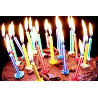 Cheap Vertical Core Spiral Birthday Candles , Custom Birthday Cake Candles No Deformation for sale