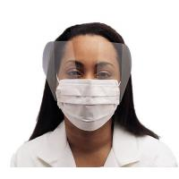 Quality Fluid Resistant Medical Face Mask Single Use , Surgical Mask With Face Shield wholesale