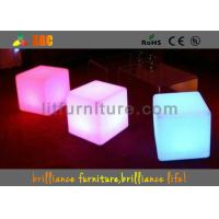 Buy cheap PE round LED Bar Stools with Wireless Remote Control / nontoxic and peculiar smell from wholesalers
