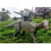 Cheap Dinosaur Replicas Life Size , Dinosaur Garden Sculpture For Forest Playground Decoration for sale