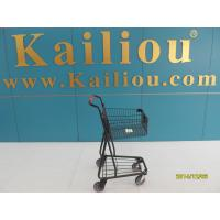 Quality 40L Singel Basket Grocery Shopping Trolley 2 front swivel caster 2 rear fixed casters wholesale