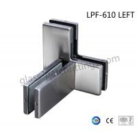 Die Casting Bottom Patch Fitting , Glass Door Accessories Triple Glass Connector