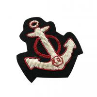 Bullion Wire Embroidered Badges India Silk Chapter For